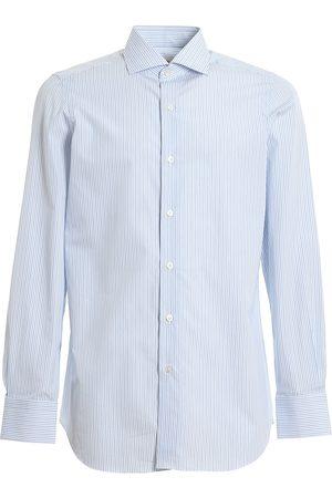Finamore Men Shirts - Shirt C0239. MILANO 21 RIGATO