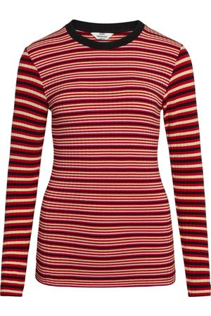 Mads Norgaard Women Tops - 5x5 Stripe Mix Tuba Top - Red Multi