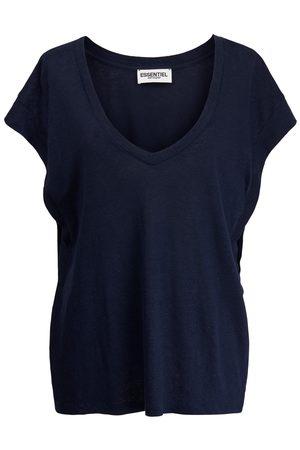 Essentiel Antwerp Zinnia V Neck T Shirt - Parisian Night PN23