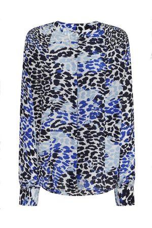 MERCY DELTA Hampton Silk Shirt Leopard Ombre