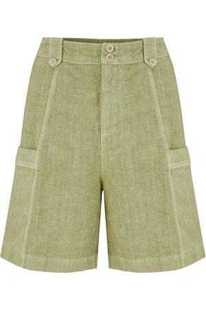 120% Lino 120% Lino Bermuda Shorts in Olive