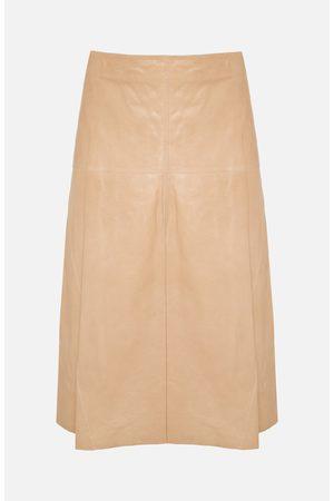 arma leder Fairchild Nougat Leather Skirt
