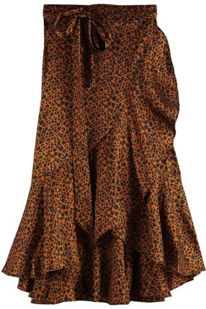 Scotch&Soda Women Mini Skirts - Scotch & Soda Mini Leopard Wrap Skirt
