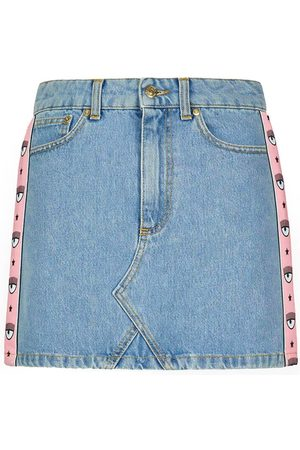 Chiara Ferragni LOGOMANIA DENIM MINI SKIRT