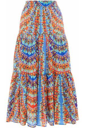 Paolita Calliope Ruffle Midi Skirt