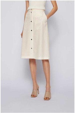 HUGO BOSS Vefy Perferated Button Midi Skirt