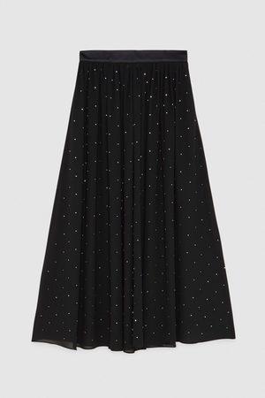 Patrizia Pepe Rhinestone midi skirt with Sparkle 8G0223