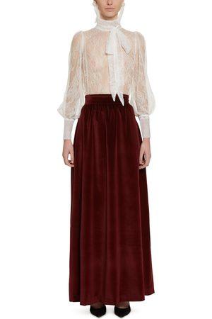 Amotea Women Maxi Skirts - Sofia velvet long skirt