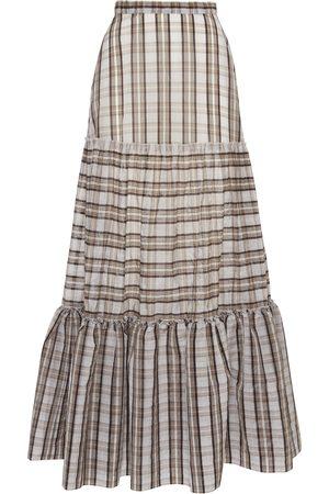 Amotea Women Maxi Skirts - TARTAN CHARLOTTE LONG SKIRT
