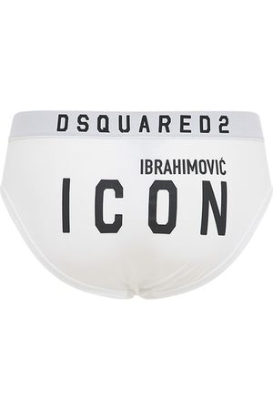 Dsquared2 Men Briefs - Ibrahimovic Icon Stretch Cotton Briefs