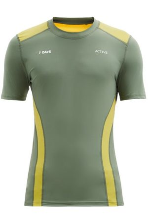 7 Days Active Panelled Short-sleeve Technical T-shirt - Mens