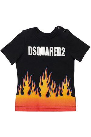 Dsquared2 Boys T-shirts - Printed Cotton Jersey T-shirt