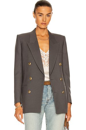 Saint Laurent Women Blazers - Tailored Jacket in Grey