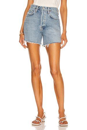 AGOLDE Women Shorts - Riley Short in Denim-Medium