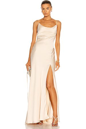 JONATHAN SIMKHAI Finley Cocktail Gown in Beige