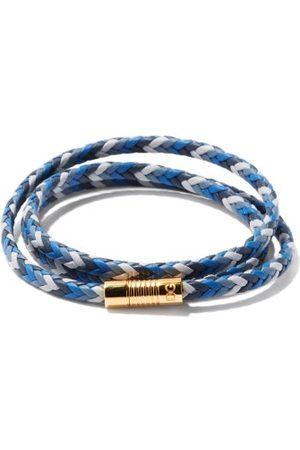 Dolce & Gabbana Braided Leather Wrap Bracelet - Mens - Multi
