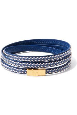 Dolce & Gabbana Braided Leather Wrap Bracelet - Mens