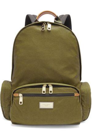 Dolce & Gabbana Logo Plaque Backpack - Mens - Khaki
