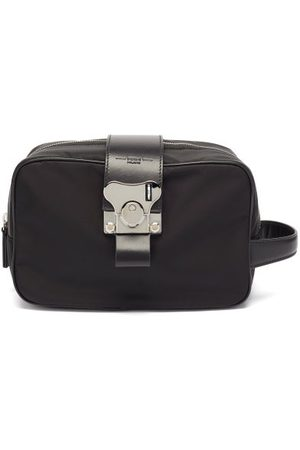 FPM Milano Butterfly Leather-trim Wash Bag - Mens
