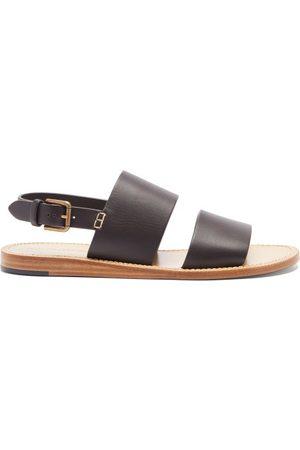 Dolce & Gabbana Back-strap Leather Sandals - Mens