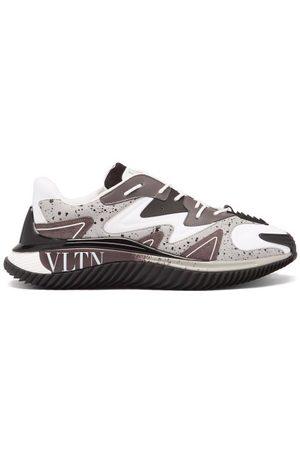 VALENTINO GARAVANI Wade Runner Vltn Leather Trainers - Mens - Grey