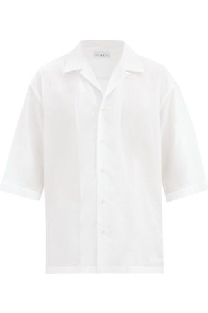 Raey Men Shirts - Oversized Camp-collar Cotton-poplin Shirt - Mens