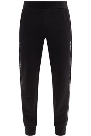 Moncler Men Sweatpants - Logo-tape Cotton-jersey Track Pants - Mens