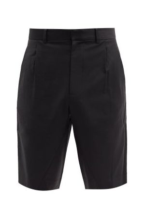 Bianca Saunders Pleated Wool-blend Straight-leg Shorts - Mens