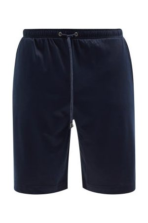 Zimmerli Men Pajamas - Drawstring Cotton-blend Jersey Pyjama Shorts - Mens - Navy