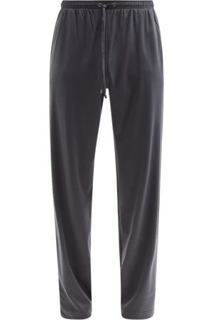 Zimmerli Drawstring Cotton-blend Jersey Track Pants - Mens - Dark Grey