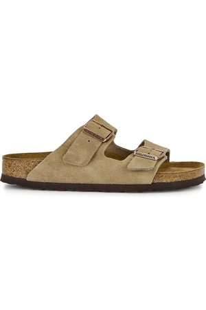 Birkenstock Women Sandals - Arizona taupe suede sliders