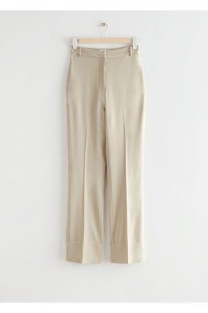 & OTHER STORIES Women High Waisted - High Waist Press Crease Trousers