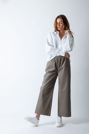 Just Female Women Leather Pants - Roy Leather Trousers