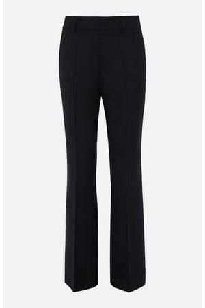 PAROSH Wool Wide Flared Trousers