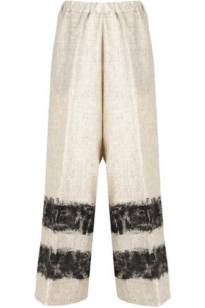 METAMORFOSI WOMEN'S 6692166002 BEIGE LINEN PANTS