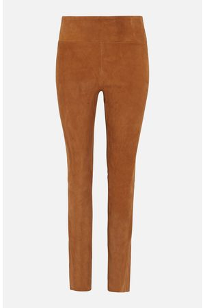 SYLVIE SCHIMMEL Tabac Suede Trousers