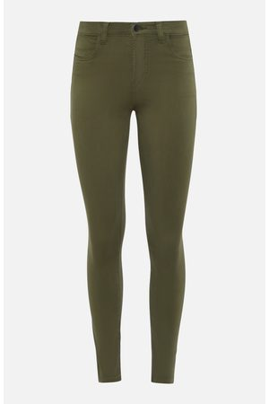 J Brand Alana High Rise Cropped Skinny Jeans in Khaki