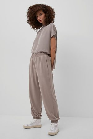French Connection Women Tracksuits - Walnut Renya Jersey Jogger