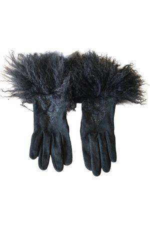 Dior Grey Suede Gloves
