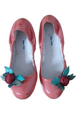 Miu Miu Women Ballerinas - \N Patent leather Ballet flats for Women