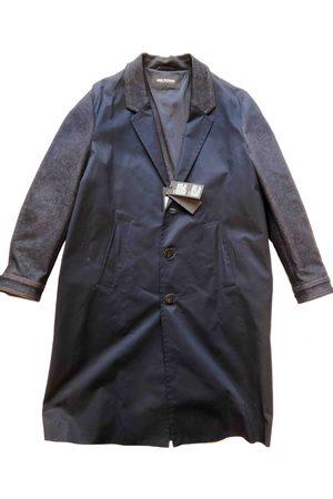 Neil Barrett Navy Cotton Coats