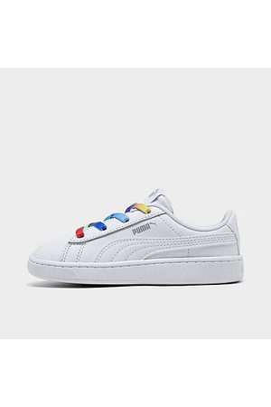 PUMA Casual Shoes - Girls' Toddler Vikky V2 Rainbow Casual Shoes in / Size 7.0 Leather