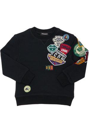 Dsquared2 Girls Sweatshirts - Cotton Sweatshirt W/ Patches