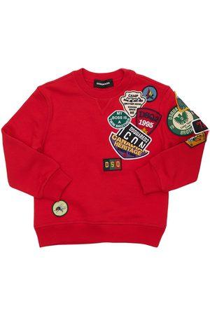Dsquared2 Cotton Sweatshirt W/ Patches