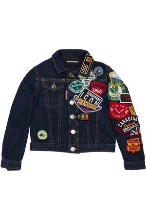 Dsquared2 Stretch Cotton Jacket W/ Patches