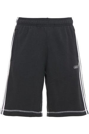 adidas Contrast Cotton Blend Sweat Shorts