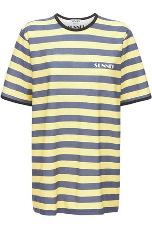 SUNNEI Striped Logo Cotton Jersey T-shirt
