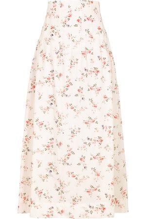 LUG VON SIGA Anna floral-print cotton maxi skirt