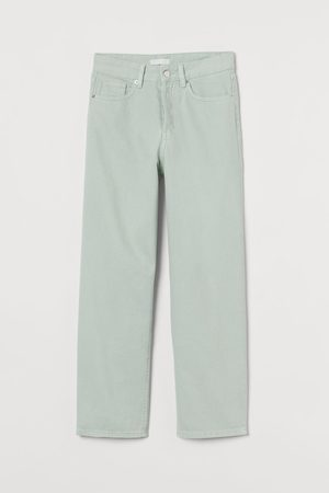 H&M Women High Waisted - Straight High Ankle Jeans