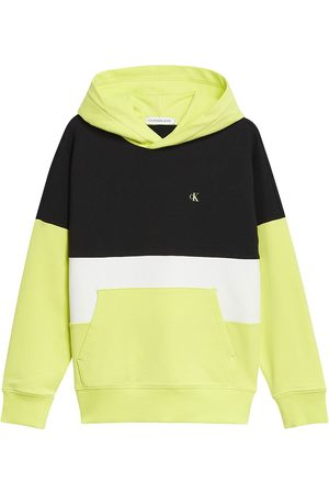 Calvin Klein Colour Block Logo Hoodie 10 Years Lime